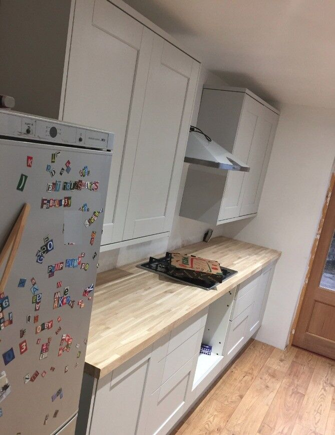Howdens Kitchen - Fairford Dove Grey Tall Wall Unit x 2 - brand new ...