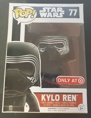 Funko Pop Star Wars Kylo Ren #77 Masked Target Exclusive w/ Protector