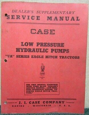 Case Low Pressure Hydraulic Pumps Va Series Eagle Hitch Tractors Manual