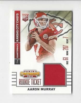 Used, 2014 Contenders Rookie Ticket #1 Aaron Murray JERSEY Chiefs for sale  Burlington