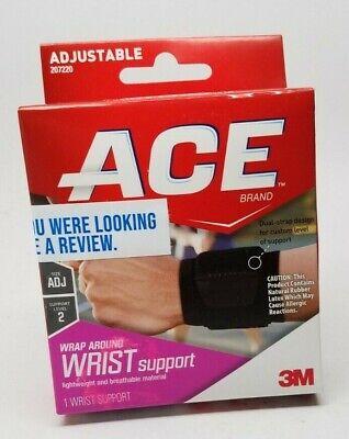 Ace Wrist Brace - ACE Around Wrist Support Brace - Adjustable - One Size - Moderate Support