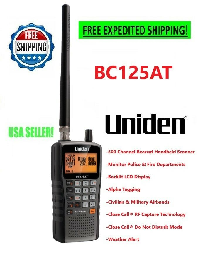 Uniden Police Scanner Handheld Mobile BC125AT Weather Fire W