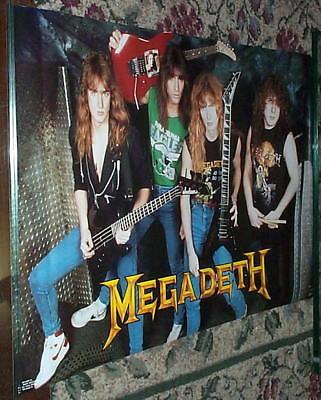 MEGADETH 1988 Group w/ Guitars  POSTER
