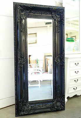 NEU BAROCK BLACK-CLASSIC WANDSPIEGEL ca.160x88cm ELEGANT großer SPIEGEL schwarz