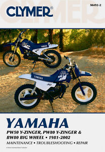 Clymer Repair Service Shop Manual Vintage Yamaha PW50/80 Y-Zinger BW80 Big Wheel