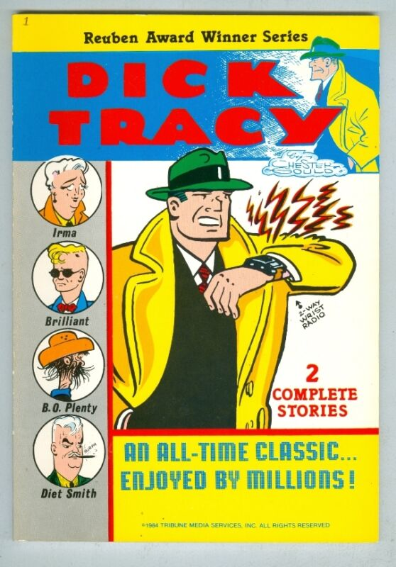 Dick Tracy by Chester Gould FN 1984 – Two complete stories