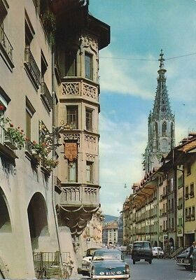 alte AK Bern, Straße in der Altstadt, Schweiz gelaufen Ansichtskarte B036a