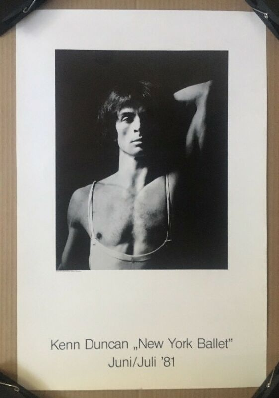 Kenn Duncan New York Ballet Poster June July 1981 Pin-up Rudolf Nureyev Dancer