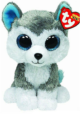 "Ty 6"" Slush the Husky Beanie Boos Plush Stuffed Animal New w/ Heart Tags MWMT's"