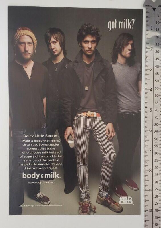 All American Rejects Got Milk RARE Print Advertisement