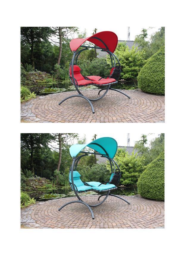 leco designer doppelschwingliege doppelliege liegestuhl sonnenliege h nge liege ebay. Black Bedroom Furniture Sets. Home Design Ideas