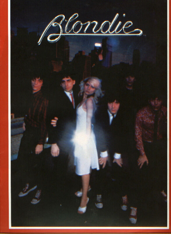 1979 vintage Official Blondie Fan Club souvenir tour program Debbie Harry
