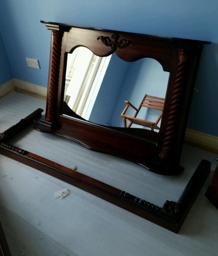 Fire Place Fire Surround Matching Mirror Pelmet All For