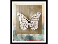 Wooden Butterfly Clock