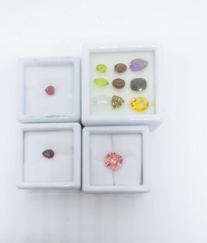 Gemstones Pink Zircornia Amethsyt Ruby and Multi Color Gemstones Lot of 4