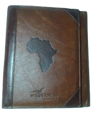 Wilderness Safaris Leather Portfolio Hardside Leather Device Pocket