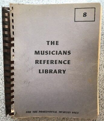 Vintage RARE The Musicians Reference Library for the Professional Musician Only