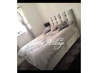 New Double silver bed set