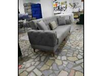 🤘🏻💓2020 HUGE SALE TURKISH DESIGN FABRIC STORAGE SOFA BEDS SETTEE BLACK BROWN GREY SOFABED