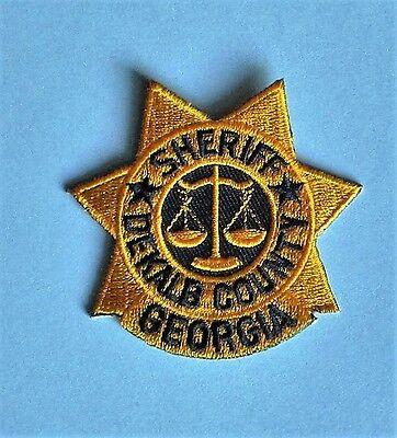 """Dekalb County Sheriff Patch – Georgia - 2 1/2"""" x 2 5/8"""""""