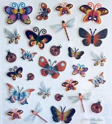 Ladybug Stickers (Butterfly Dragonfly Ladybug Insect Glittered Scrapbook)