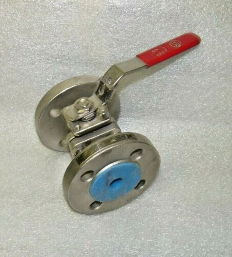 Haitima Model H Type 763 1.4408 Stainless Steel Ball Valve DN20 PN40 Flanged End