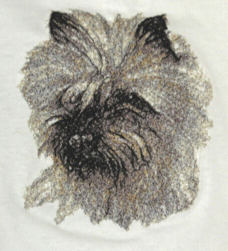 Embroidered Long-Sleeved T-Shirt - Cairn Terrier AED14565 Sizes S - XXL