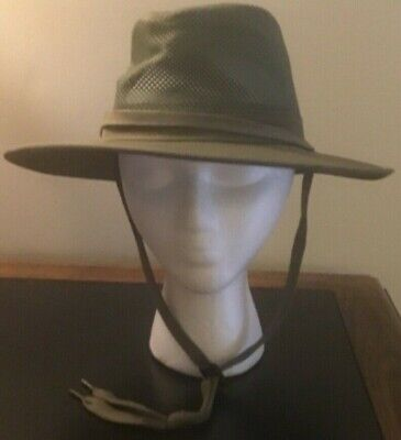 NEW HENSCHEL HAT CO. Australian Breezer Hat Cap - Green- M Medium MD 50 UPF NWT