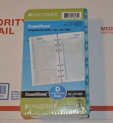 Day-timer 2020 Coastlines Daily Planner Refill 2 Page Per Day D Size 3