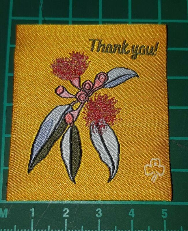 Australian Flora Thank You Girl Guide Badge.