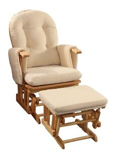 Baby Glider Rocking Breast Feeding Chair w/ Ottoman