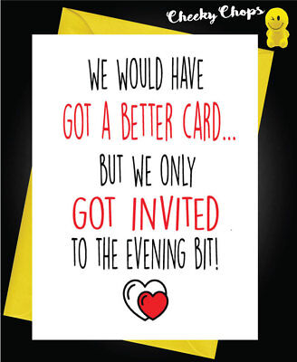 Funny Wedding Greeting Card Marriage -  Better