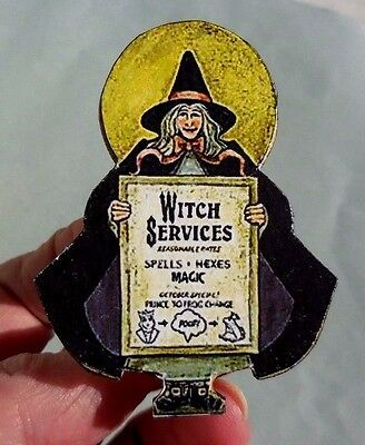 DOLLHOUSE MINIATURE~ HALLOWEEN ~ WITCH SERVICES BOARD  by LORRAINE SCUDERI