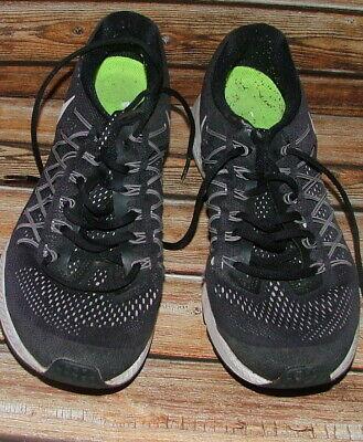 Nike ZOOM PEGASUS 32 Training Black Canvas Training Shoes Size 9.5UK