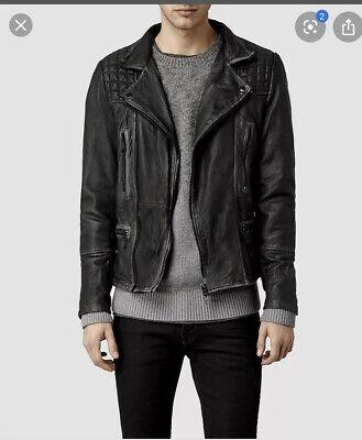 AllSaints Mens Leather Biker Jacket EXTRA SMALL All Saints Cargo