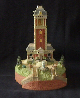 Liberty Fall  Bell Tower  Sounds Chimes Bell Ah333 Christmas Snow Village Figure