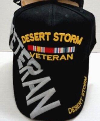 Desert Storm Veteran hat ballcap cap black army marine navy military lid