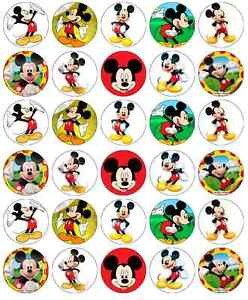 Mickey Mouse Birthday Cupcake Toppers Edible Wafer Paper BUY 2 GET 3RD FREE