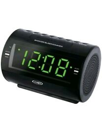 Jensen JCR-210 AM/FM Dual-Alarm Clock Radio 1.2 LED Display