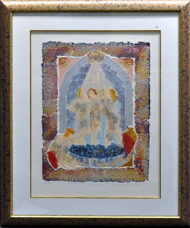 "Roy Tonkin ""les Cascade Ii""  Hand Signed Etching W/custom Frame Make An Offer!"