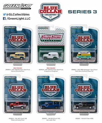BLUE COLLAR COLLECTION SERIES 3, SET OF 6 CARS 1/64 DIECAST BY GREENLIGHT 35080