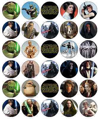 Star Wars Cupcake Toppers Edible Wafer Paper BUY 2 GET 3RD FREE!