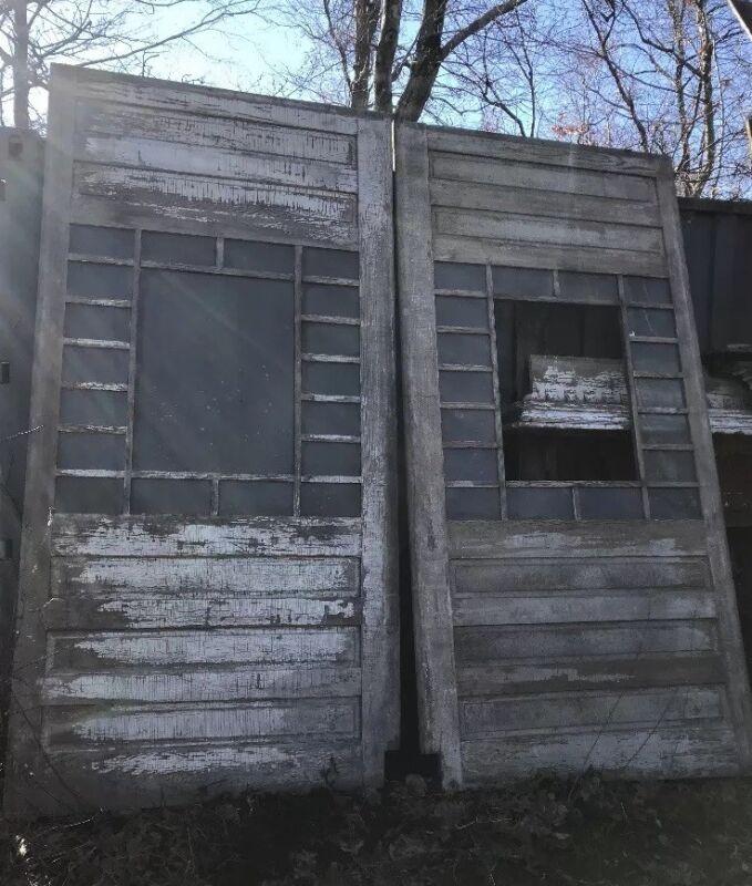 Spectacular Pair Barn Doors W Windows Room Dividers