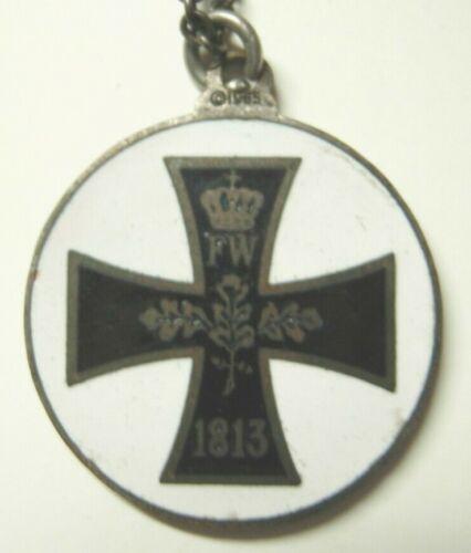 Vintage 1960s Enameled Surfer Iron Cross Medal / St Christopher Medal