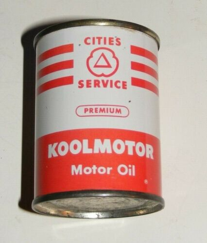 CITIES SERVICE MOTOR OIL CAN Coin Bank PREMIUM KOOLMOTOR METAL VTG 1960