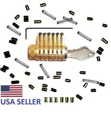 Cutaway Serrated Pin Practice Lock Locksmith Training Schlage All Brass