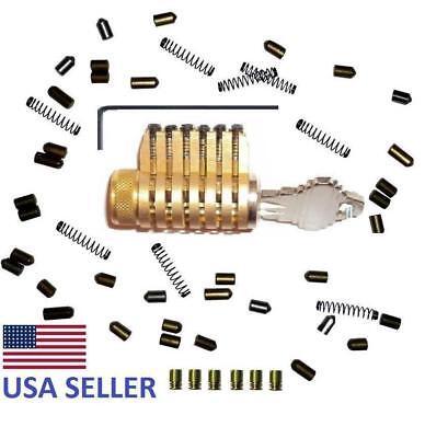 Schlage Cutaway Practice Lockall Brass Locksmith Training Serrated Pins