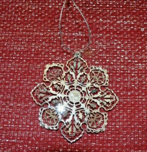 MMA Metropolitan Museum of Art Silver Plate Snowflake Ornament 2013