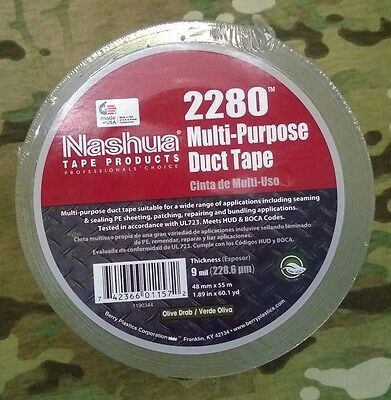 100mph Tape Od Nashua Multi-purpose Duct Tape 60 Yard 9 Mil Made In Usa New