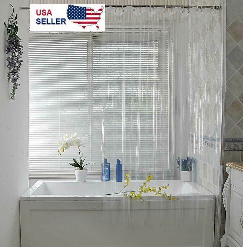 Clear Shower Curtain Liner Anti-Bacterial PEVA 72×72 Water Repellent US Bath